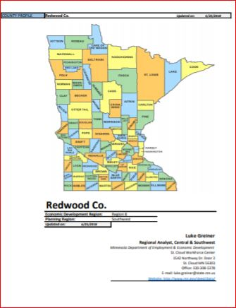 Thumbnail Image For 2018 Redwood County Labor Profile - Click Here To See
